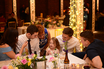 Flower girl holds court at Victoria Warehouse