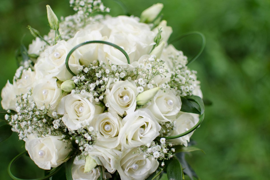 Beautiful bouquet with pearls